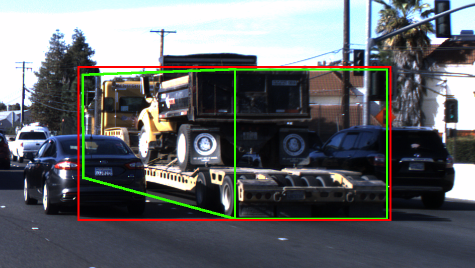 Annotation with truck carrying a car